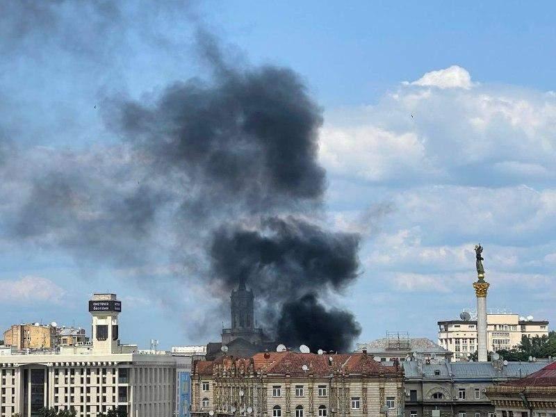Пожежа на Хрещатику 24 липня