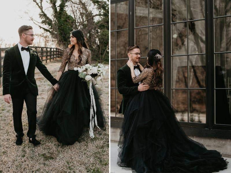 Ця наречена вирішила поєднати пишну спідницю і вишуканий мереживний верх