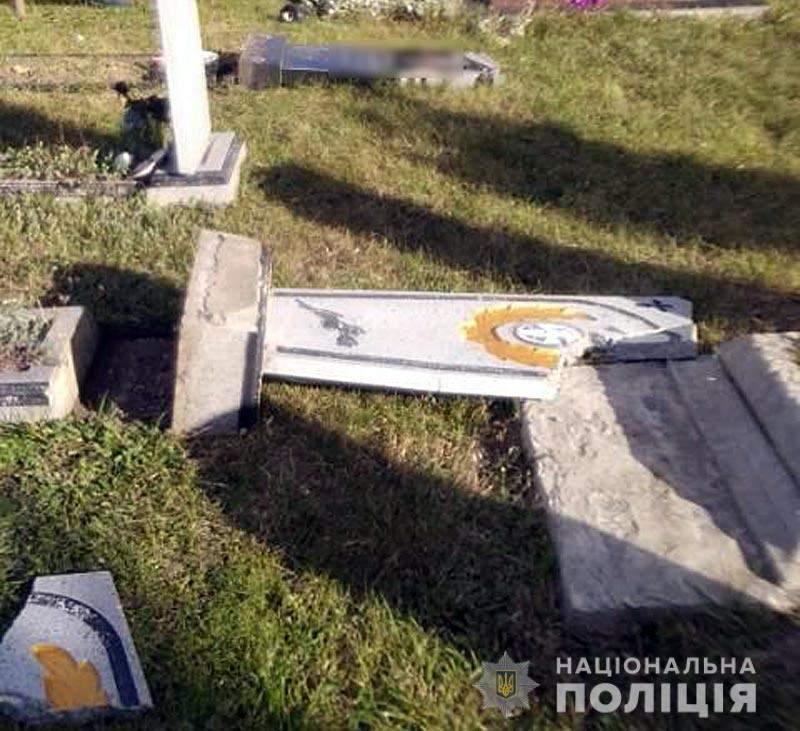 На Полтавщині діти розгромили кладовище