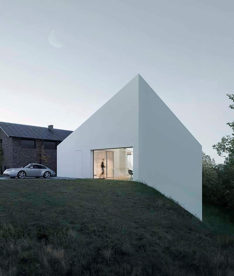 Только под определенным ракурсом становится понятной конструкция дома