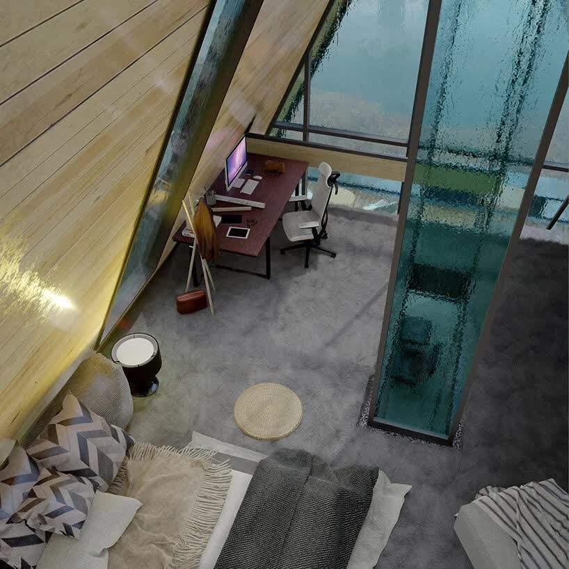 Скляний вертикальний коридор  / Фото Beautiful life