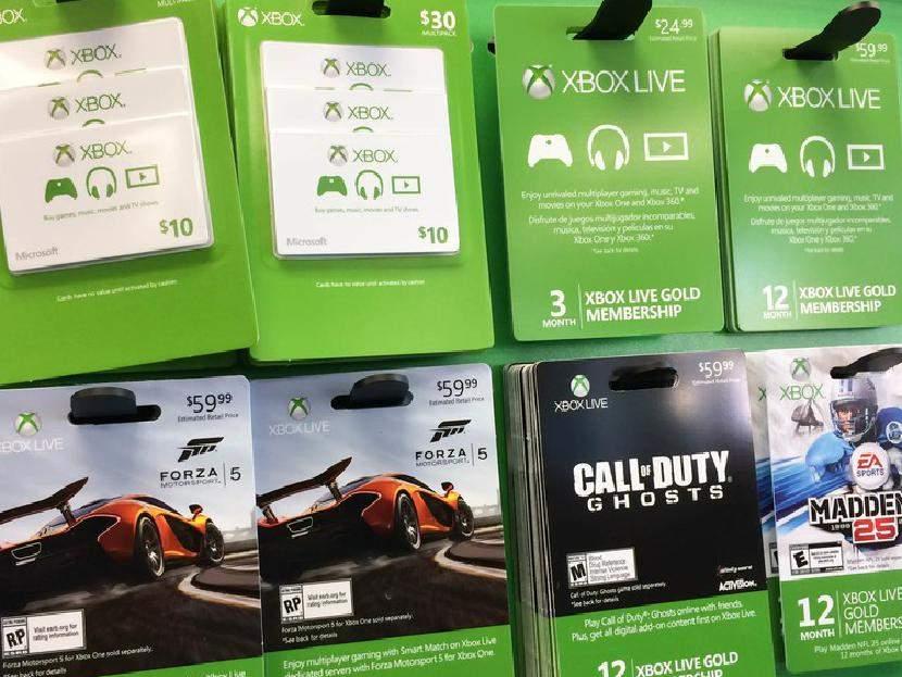 Подарочные карточки Xbox