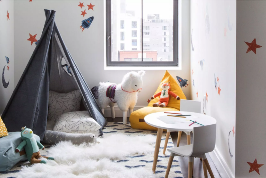 Вариант детской комнаты с домиком-типи