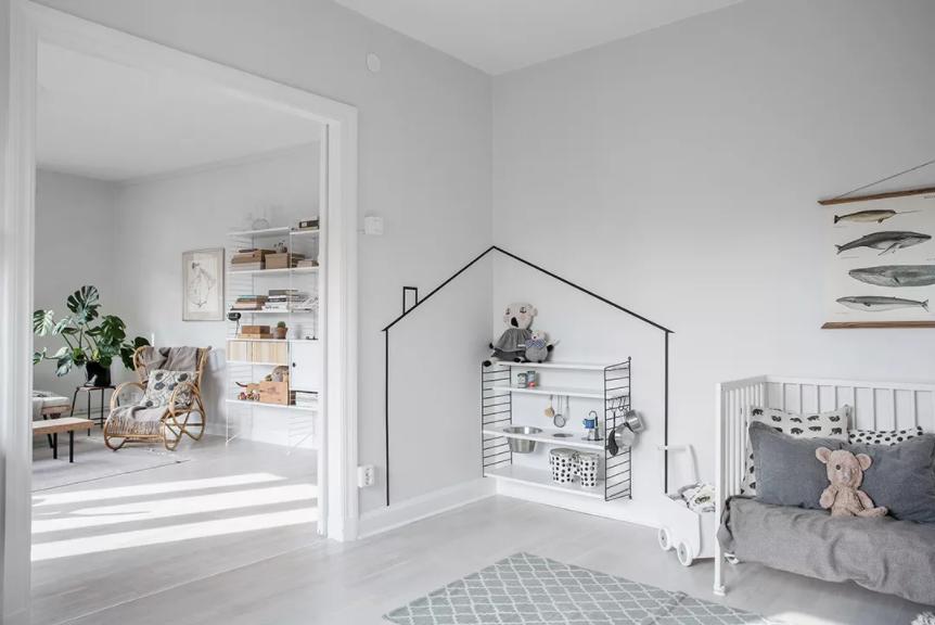 Эта детская комната в Швеции соответствует концепции минимализма