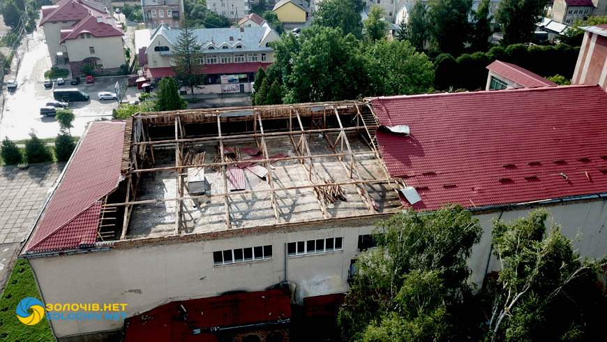 Зірвало дах Народний дім Золочів 28 липня 2021 Новини Львова