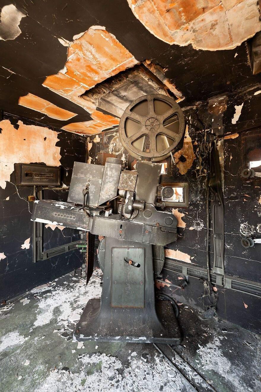 Залишки старого кіноапарату