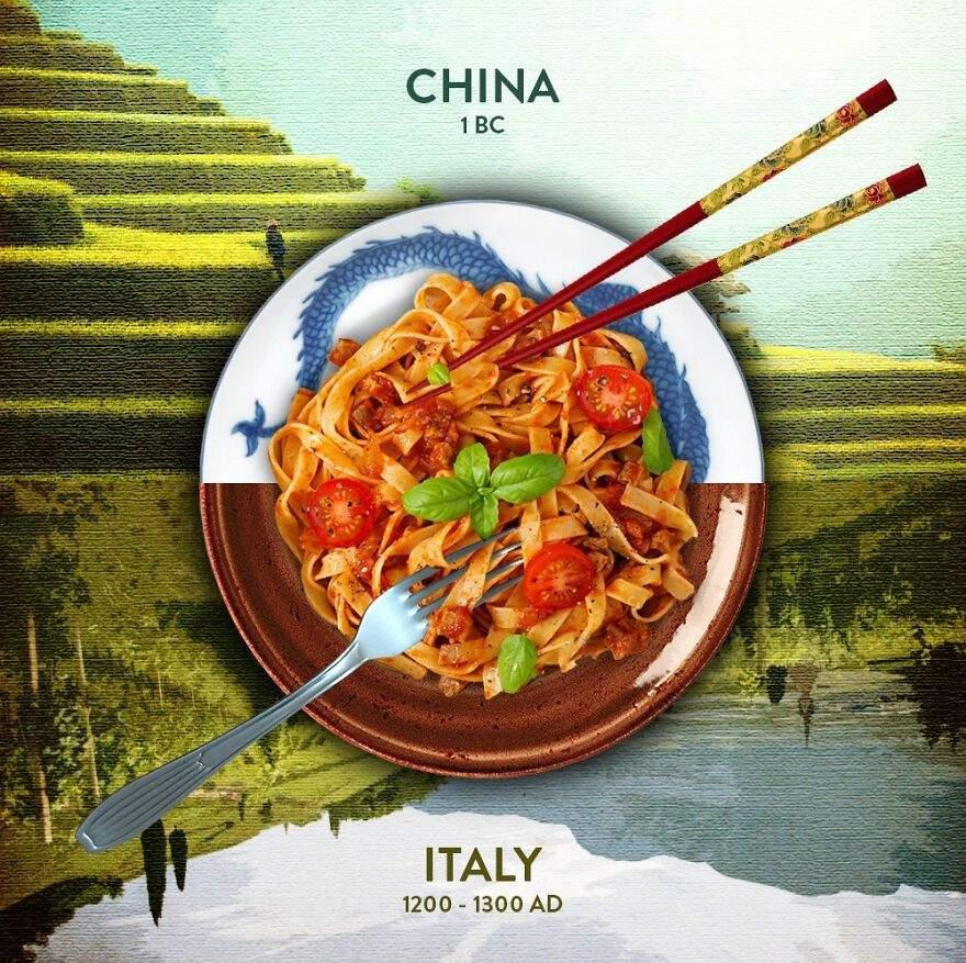Італійська паста китайського походження