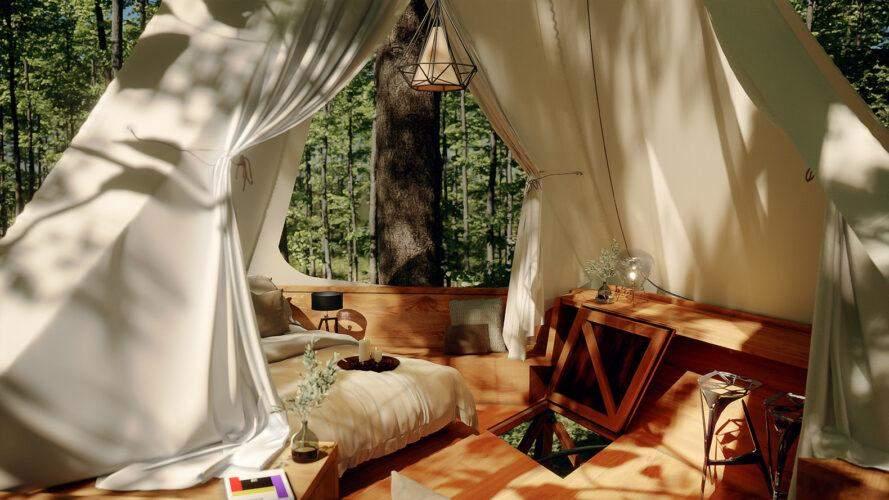 Внутрішнє оздоблення хатини  / Фото Inhabitat