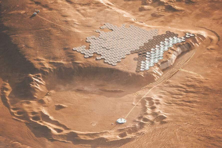Марсіанські поселення можуть виглядати так / Фото Archdaily