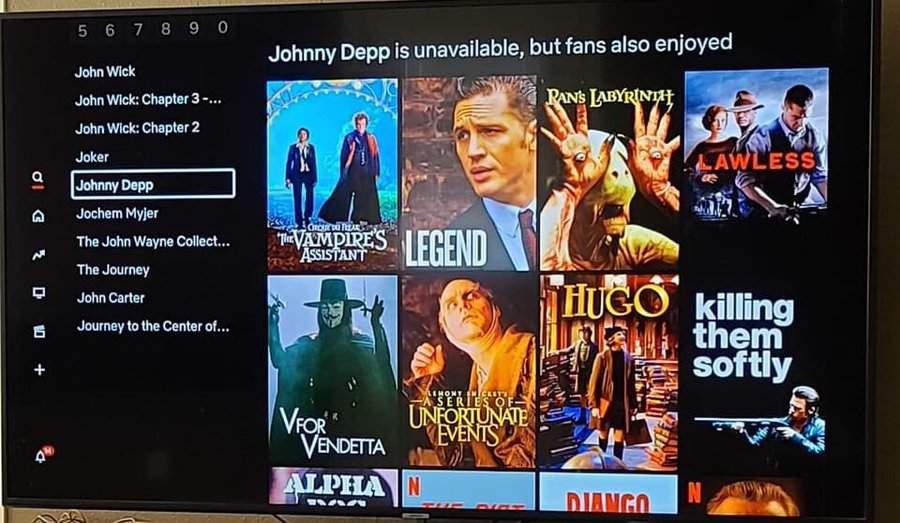 Netflix заьрав зі списку фільми з Джонні Деппом