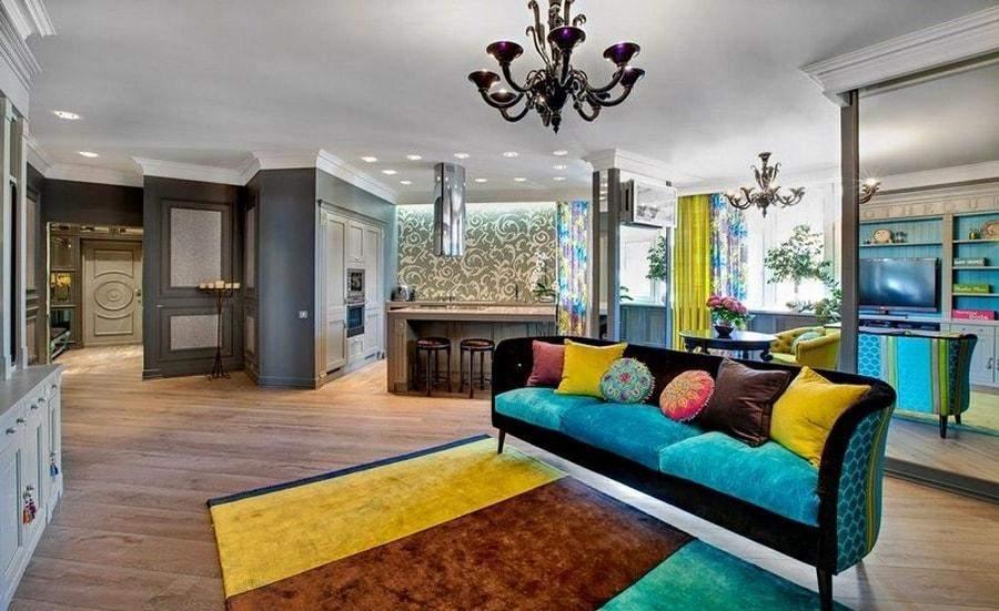 Чтобы совместить цвета в квартире, сначала сделайте это на бумаге или в фотошопе