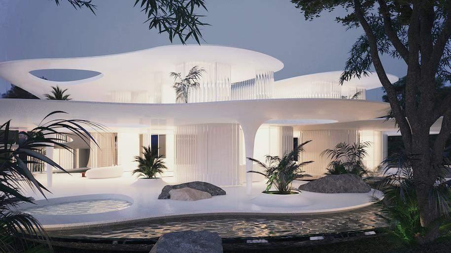 Кришталево-біла будівля   / Фото designboom