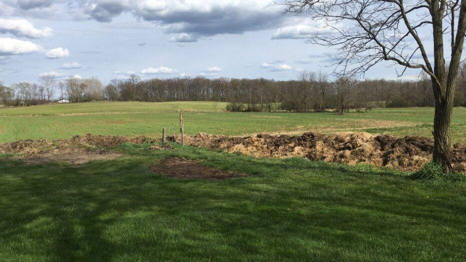 Два фермери не змогли поділити ділянки: один з них після сварки спорудив стіну з гною