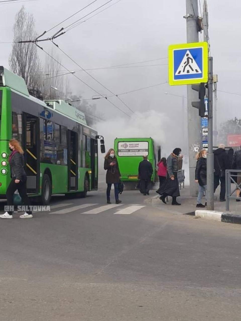 Автобус пожежа Харків 23 Серпня Маршрутка
