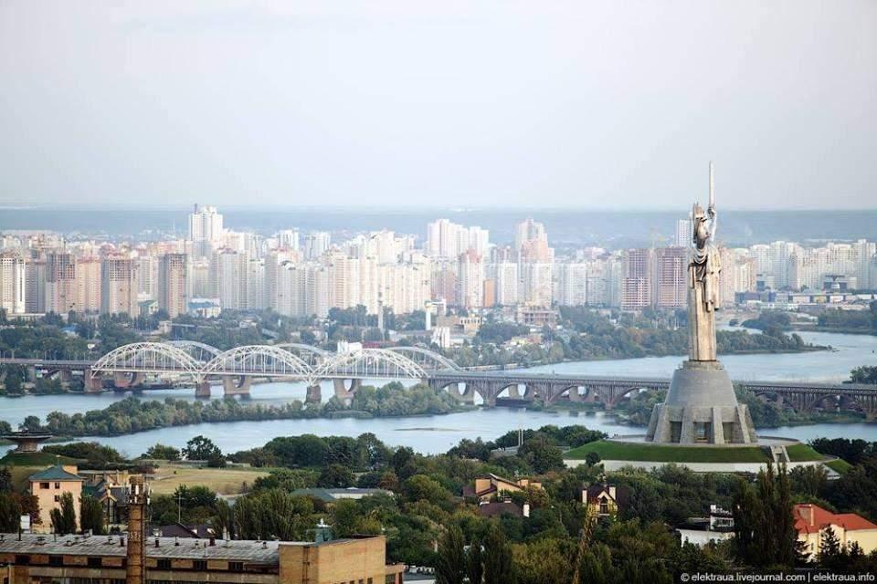 Вид на Київ з висоти пташиного польоту, Київ, 30 років Незалежності, як змінився Київ за 30 років