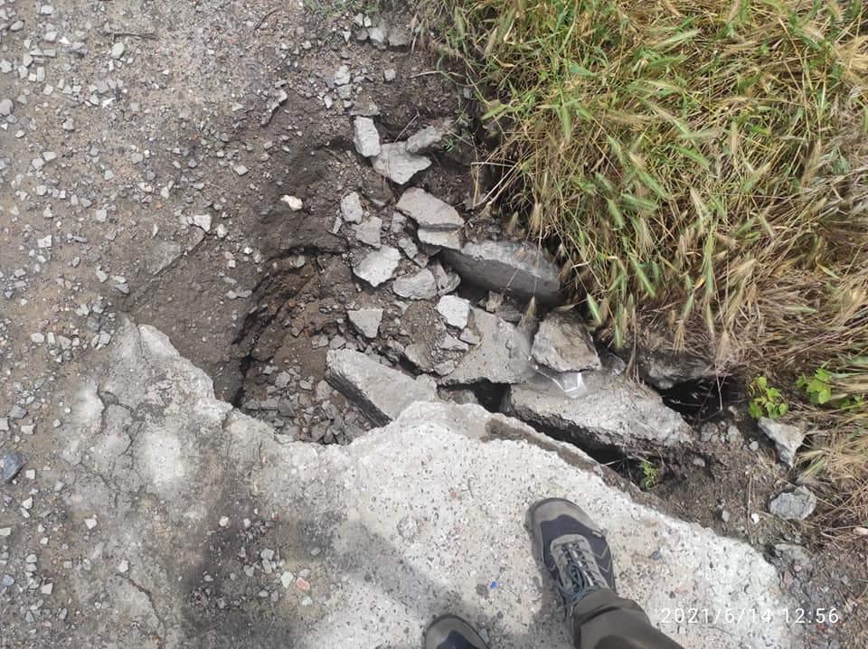 у Миколаєві провалилася дорога після зливи