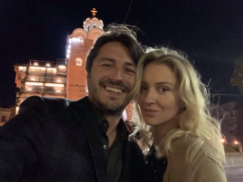 Сергій Притула з дружиною