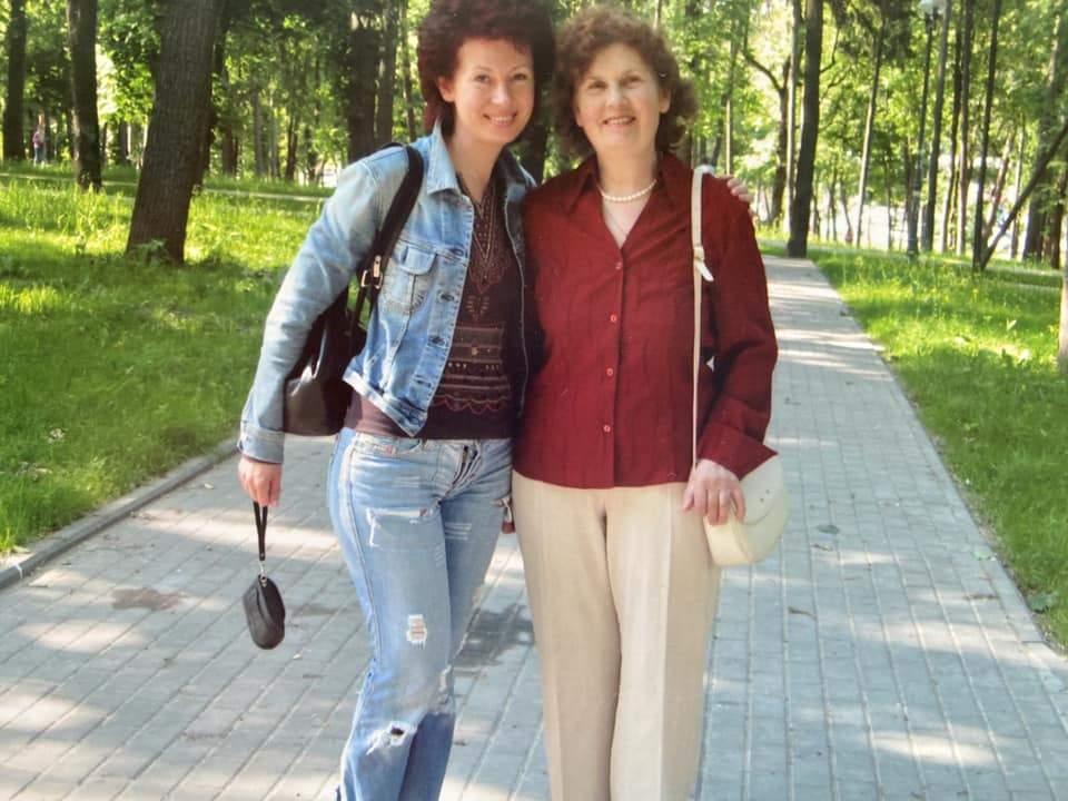 Алла Мазур з мамою Марією в Києві