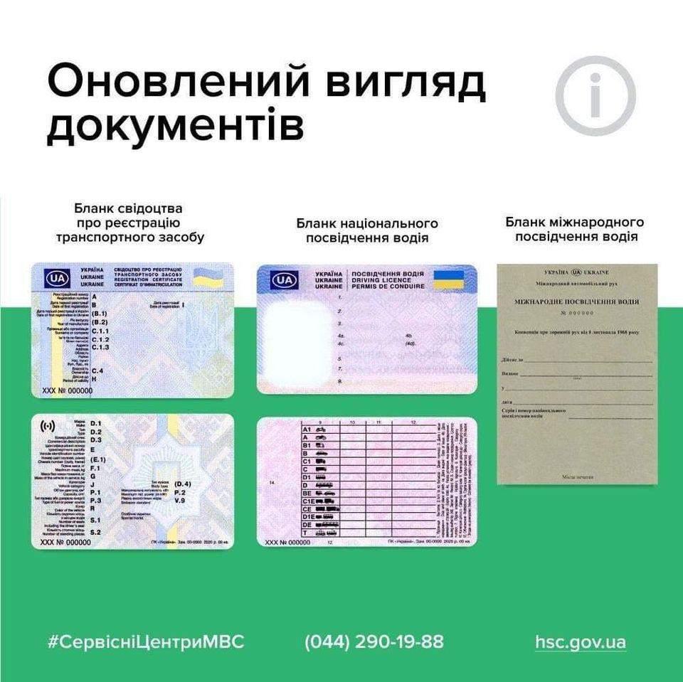 МВС показало нові водійські посвідчення