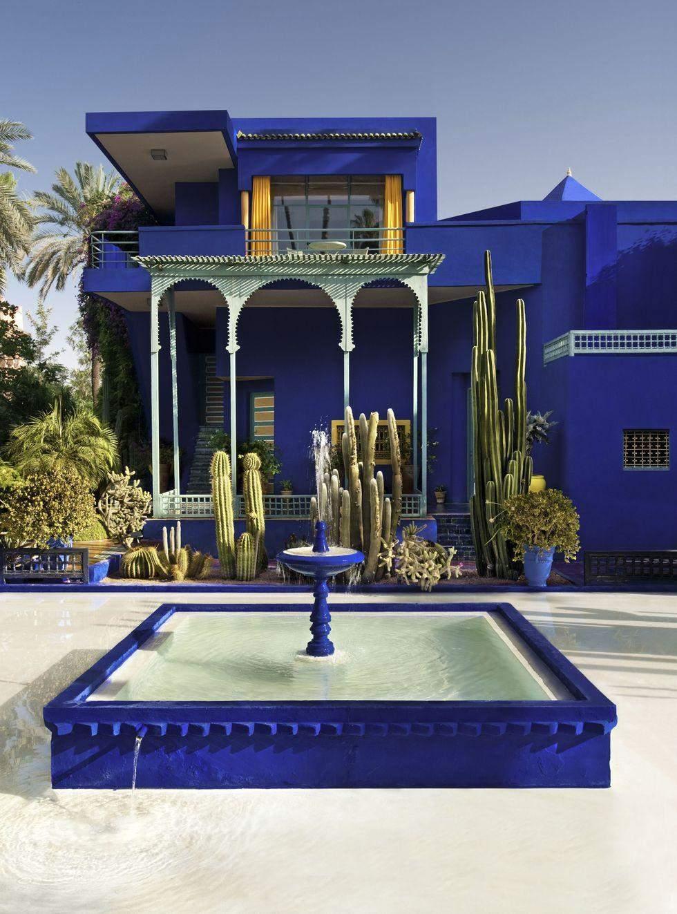 Насичений синій будинок, Марокко