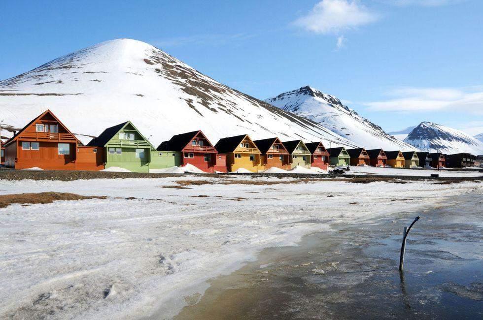 Дерев'яні різноколірні будинки в Норвегії
