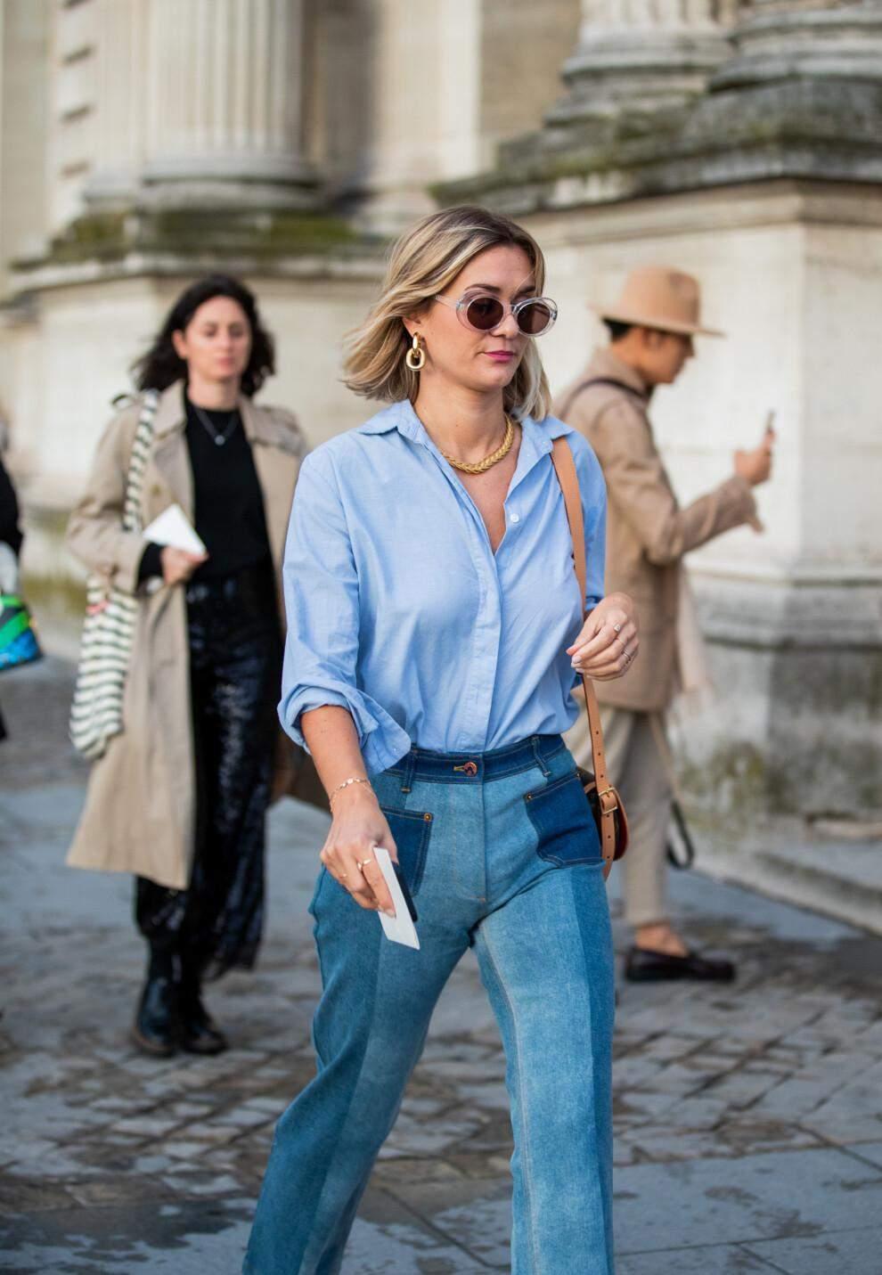 З чим носити голубу сорочку цієї весни