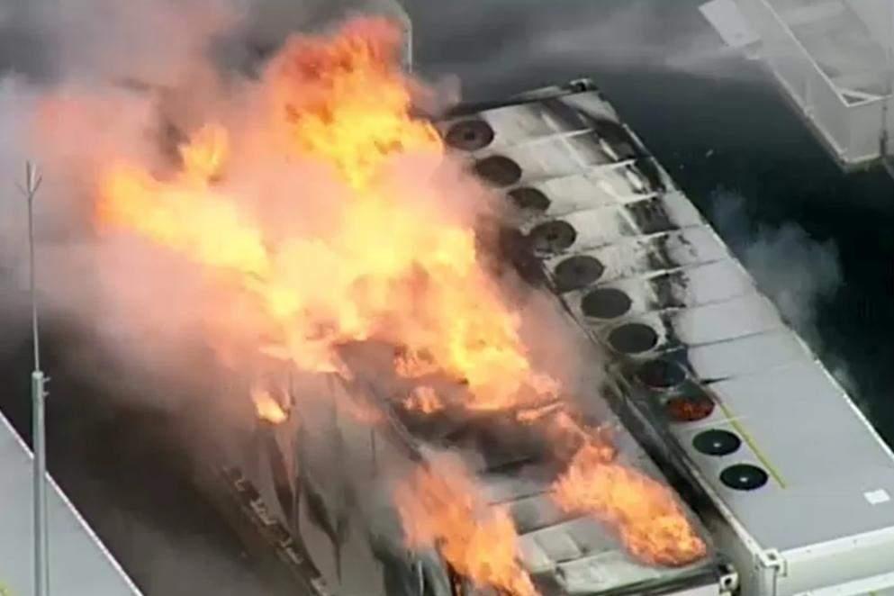 Пожежа в одному з блоків Tesla Megapack