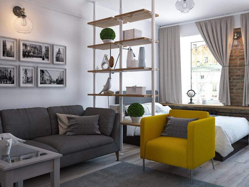 Цветные акценты уместны даже в маленьких квартирах